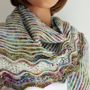 Ondula - châle tricot