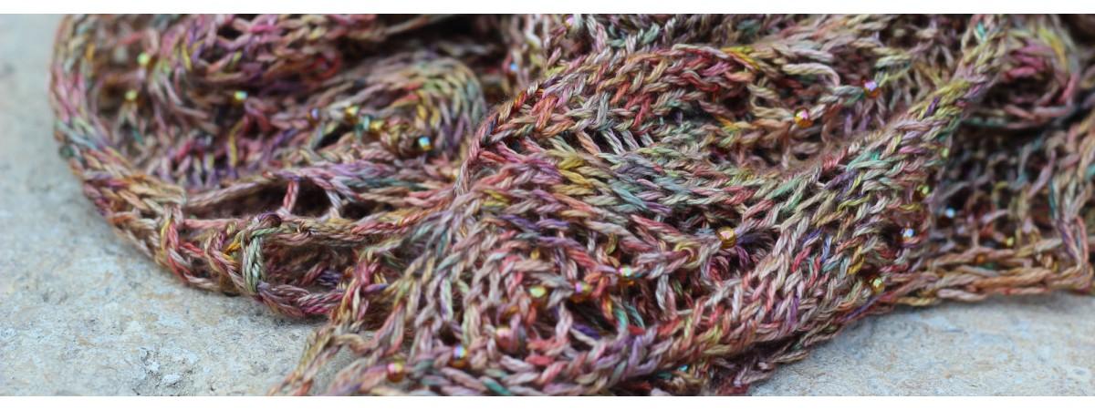 Laine à tricoter dentelle
