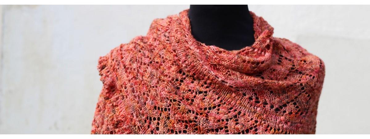 Fiches explicatives de châles au tricot dentelle