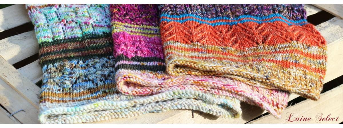 Modèle de snood, col, tour de cou à tricoter - laineselect.com